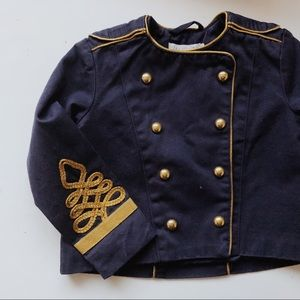 NWT Toddler Girl H&M Military Jacket Navy 18 mths